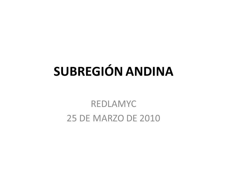 PAISES 1. BOLIVIA 2. COLOMBIA 3. ECUADOR 4. PERÚ 5. VENEZUELA