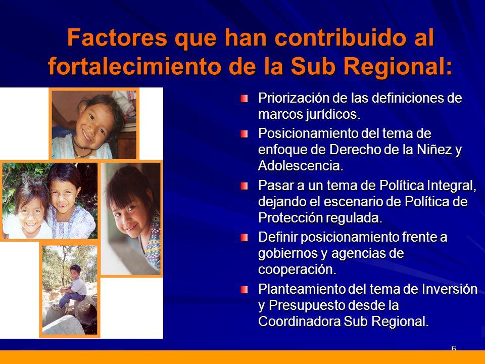 Apoyo de las Agencias de Cooperación.Compromiso social por parte de las organizaciones miembros.