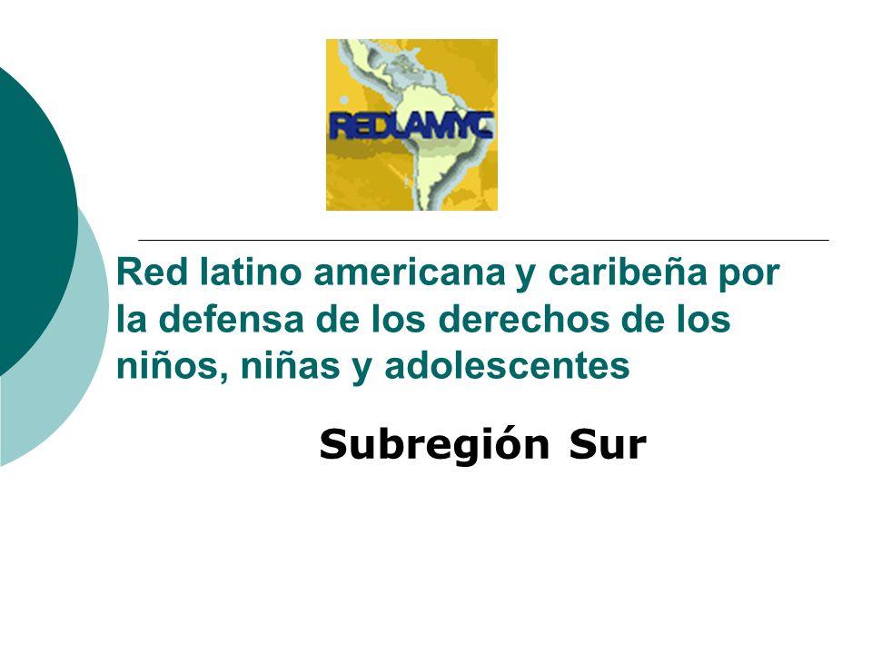Red latino americana y caribeña por la defensa de los derechos de los niños, niñas y adolescentes Subregión Sur