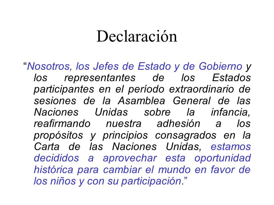Declaración Nosotros, los Jefes de Estado y de Gobierno y los representantes de los Estados participantes en el período extraordinario de sesiones de