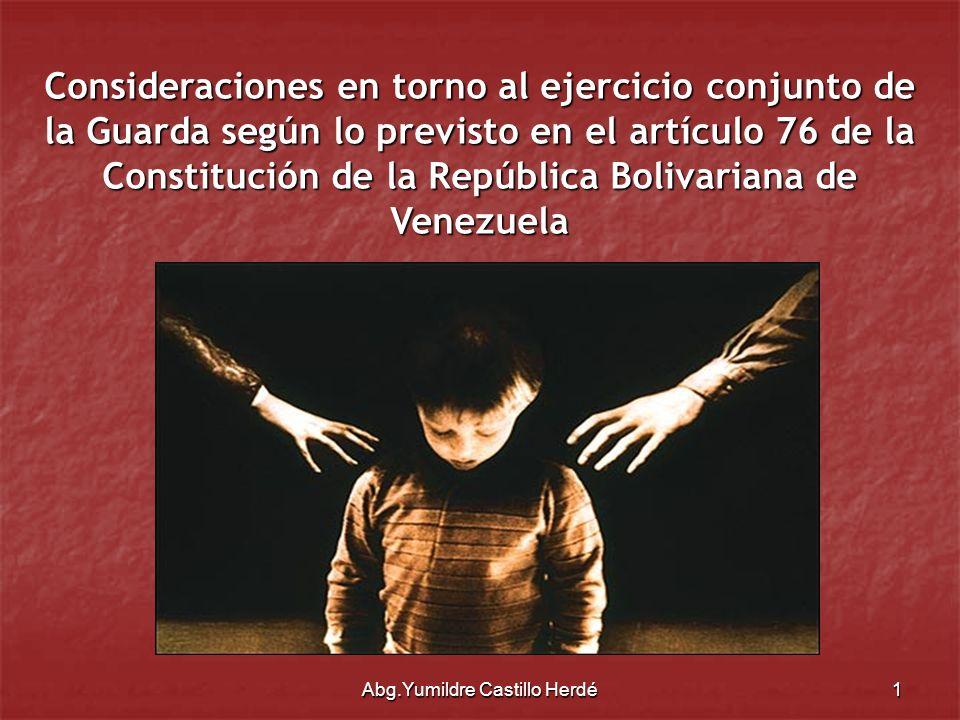 Abg.Yumildre Castillo Herdé12 Convención sobre los Derechos del Niño: Arts.9.3: Los Estados Partes respetarán el derecho del niño, que esté separado de uno o de ambos padres, a mantener relaciones personales y contacto directo con ambos padres de modo regular, salvo si ello es contrario al interés superior del niño.