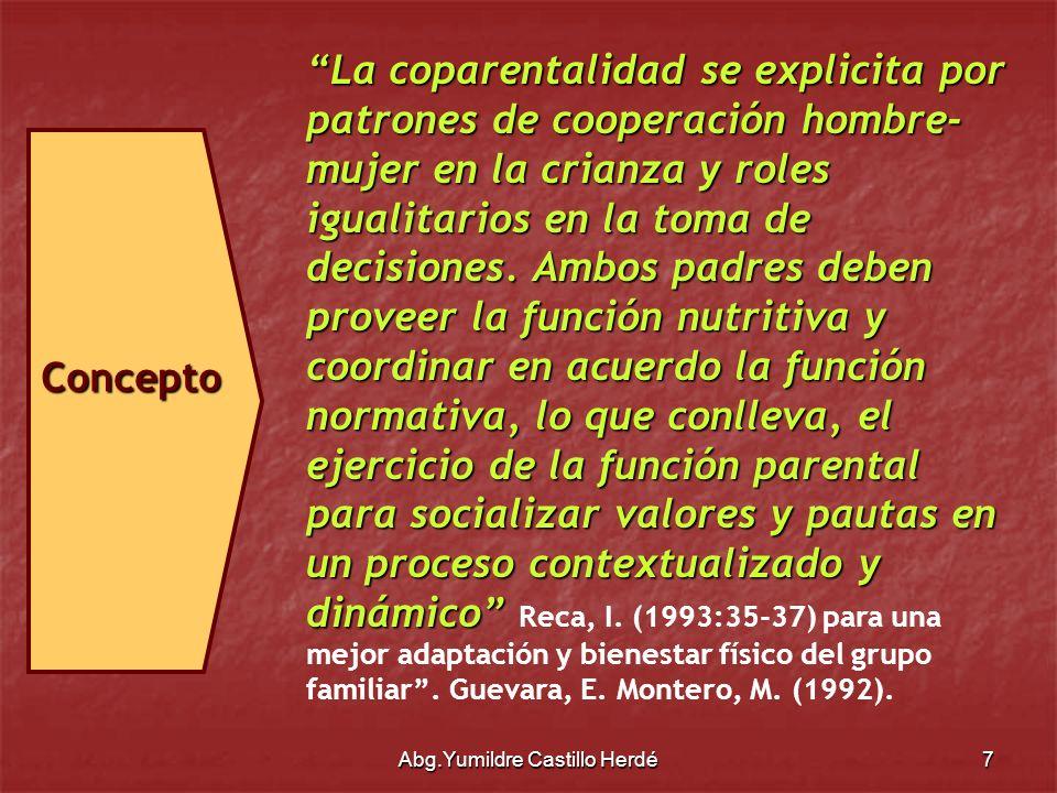 Abg.Yumildre Castillo Herdé8 En Venezuela, ha sido escasamente en las últimas décadas cuando se han introducido verdaderas innovaciones en materia de Derecho de Familia.