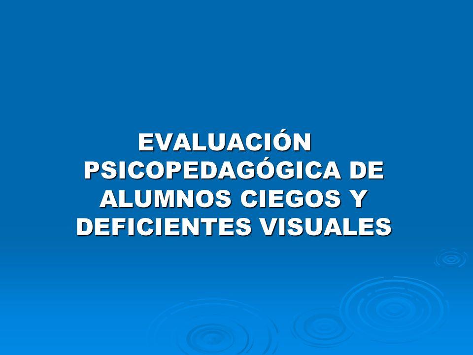 NIVELES EDUCATIVOS Y PRINCIPALES ÁREAS DE EVALUACIÓN EN PERSONAS CON CEGUERA O D.V.