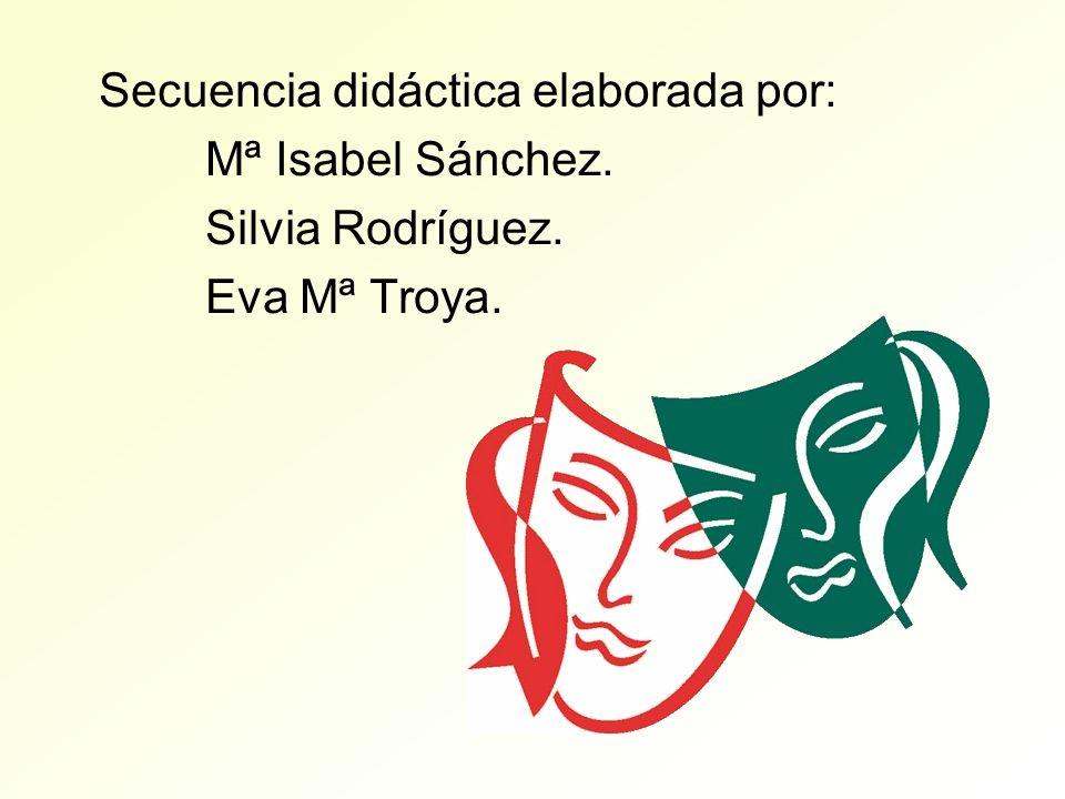 Secuencia didáctica elaborada por: Mª Isabel Sánchez. Silvia Rodríguez. Eva Mª Troya.