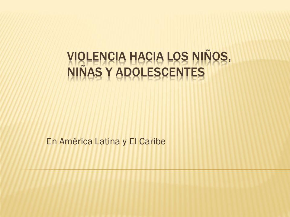 Los niños, niñas y adolescentes son las principales victimas de la violencia en América Latina.