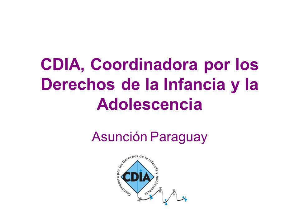 CDIA, Coordinadora por los Derechos de la Infancia y la Adolescencia Asunción Paraguay