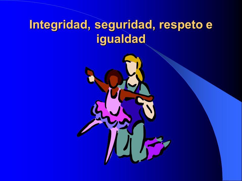 Integridad, seguridad, respeto e igualdad