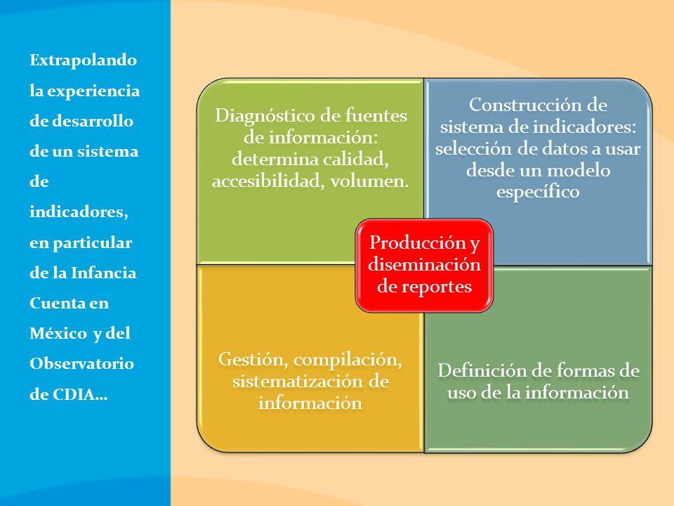 Diagnóstico de fuentes de información: determina calidad, accesibilidad, volumen.