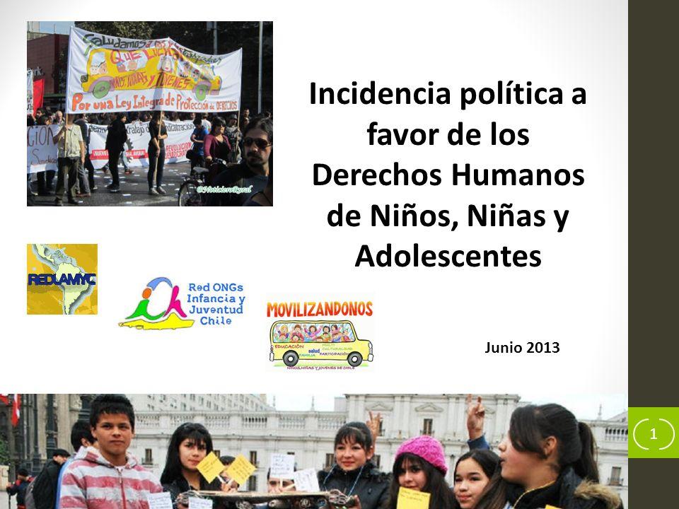 2 Campaña Movilizándonos por una Cultura de Protección Integral de Derechos de Niños, Niñas y Adolescentes que Viven en Chile Construcción cultura de Derechos Humanos Mesa nacional ROIJ-Chile Mesa regional metropolitana ROIJ-Chile Misión – objetivos ROIJ-Chile :