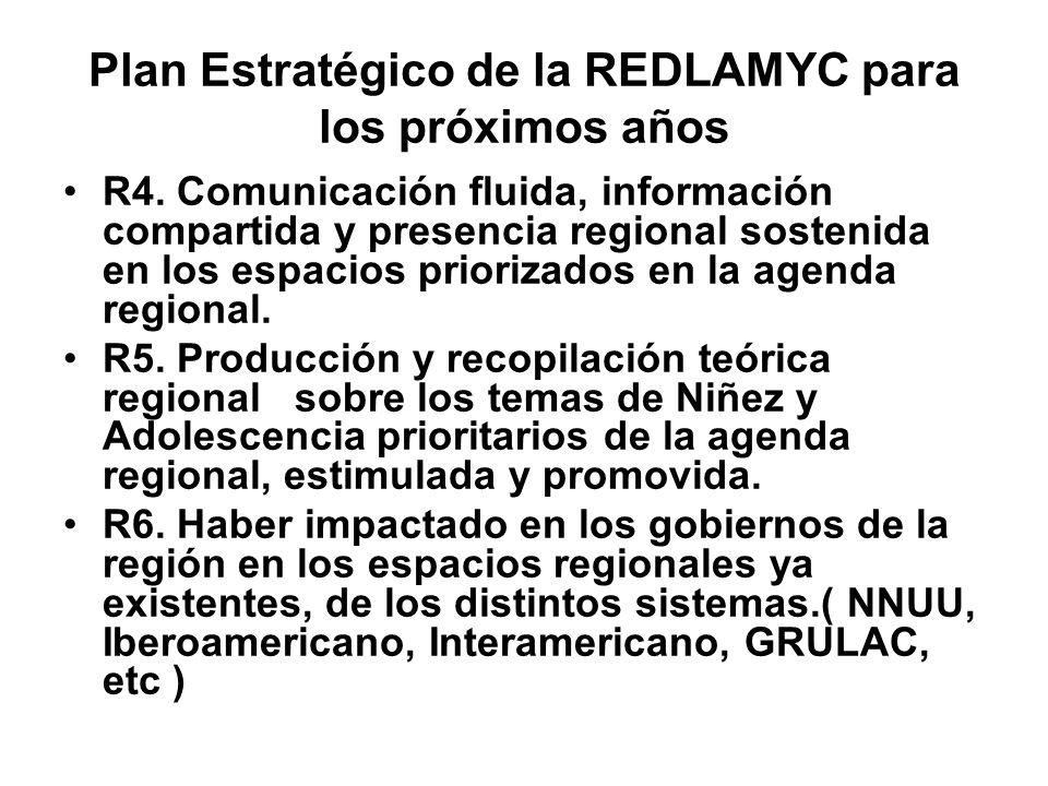 Plan Estratégico de la REDLAMYC para los próximos años R4.