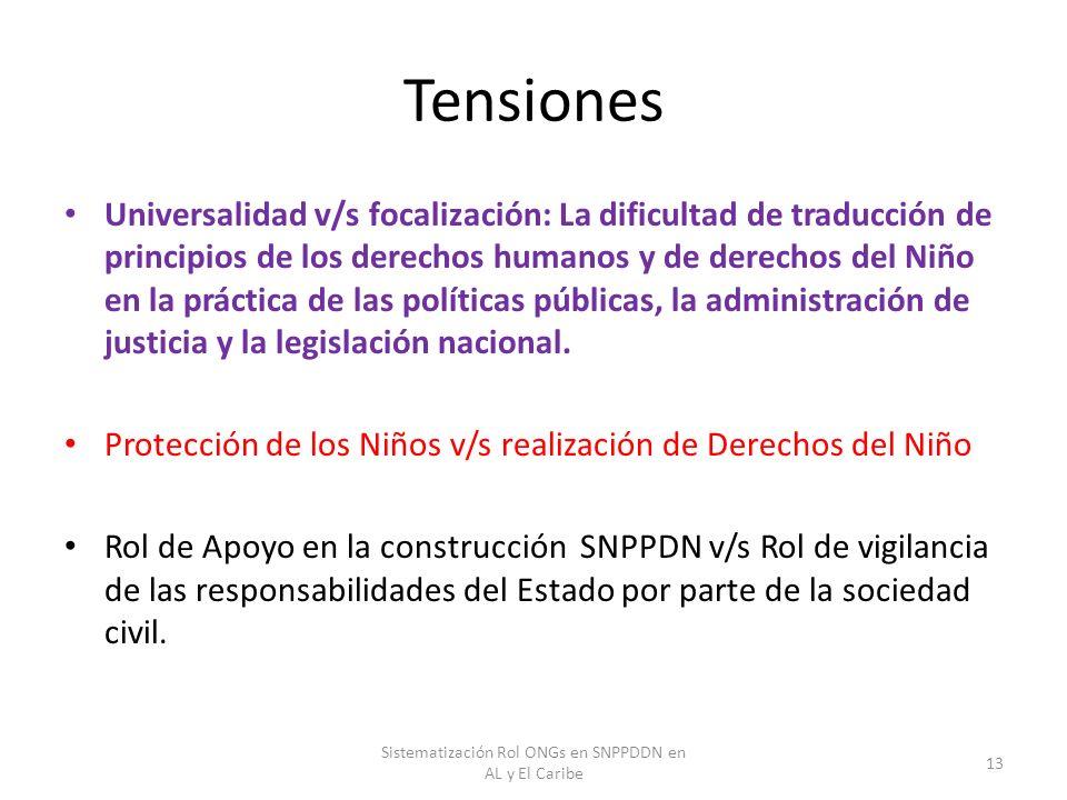 Tensiones Universalidad v/s focalización: La dificultad de traducción de principios de los derechos humanos y de derechos del Niño en la práctica de l