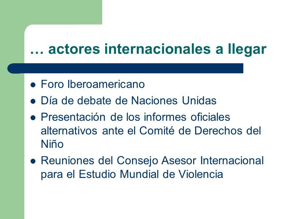 … actores internacionales a llegar Foro Iberoamericano Día de debate de Naciones Unidas Presentación de los informes oficiales alternativos ante el Co