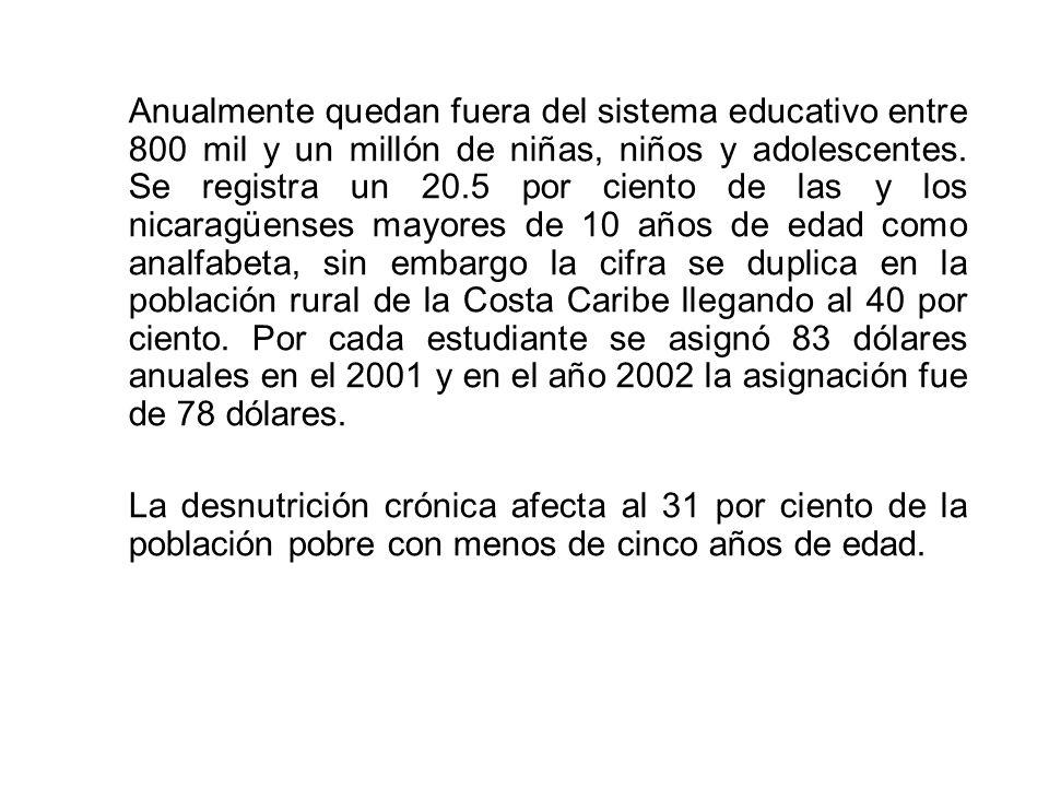 Anualmente quedan fuera del sistema educativo entre 800 mil y un millón de niñas, niños y adolescentes.