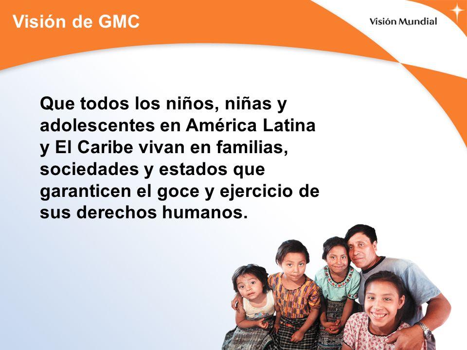 Que todos los niños, niñas y adolescentes en América Latina y El Caribe vivan en familias, sociedades y estados que garanticen el goce y ejercicio de sus derechos humanos.