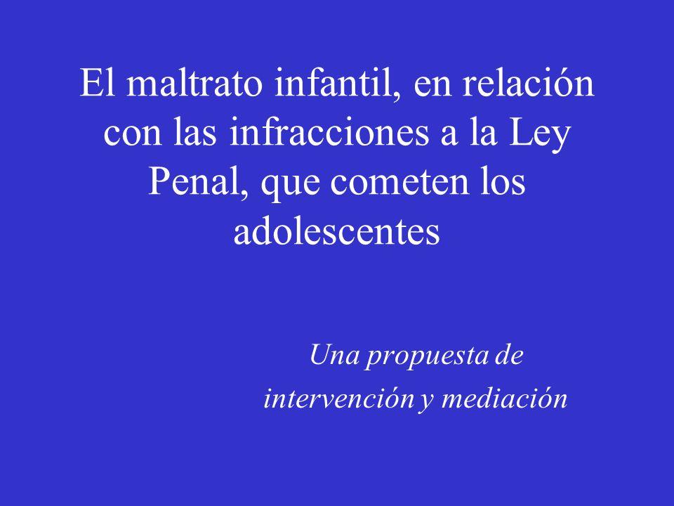 El maltrato infantil, en relación con las infracciones a la Ley Penal, que cometen los adolescentes Una propuesta de intervención y mediación
