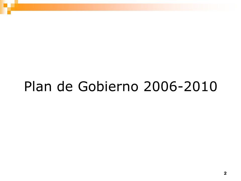 3 Pilares del Plan de Gobierno 1.