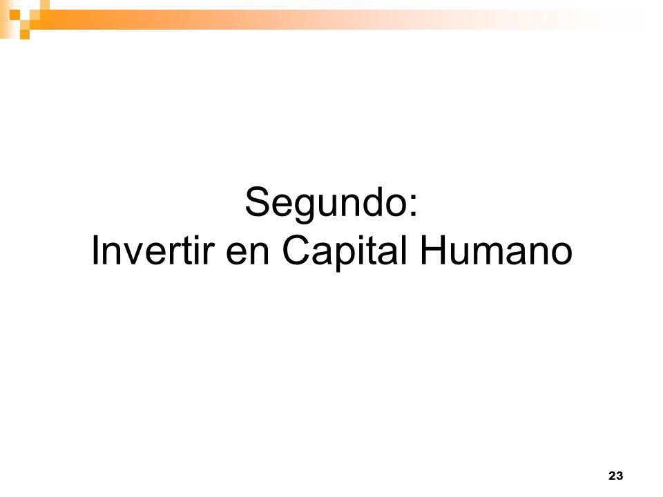 23 Segundo: Invertir en Capital Humano