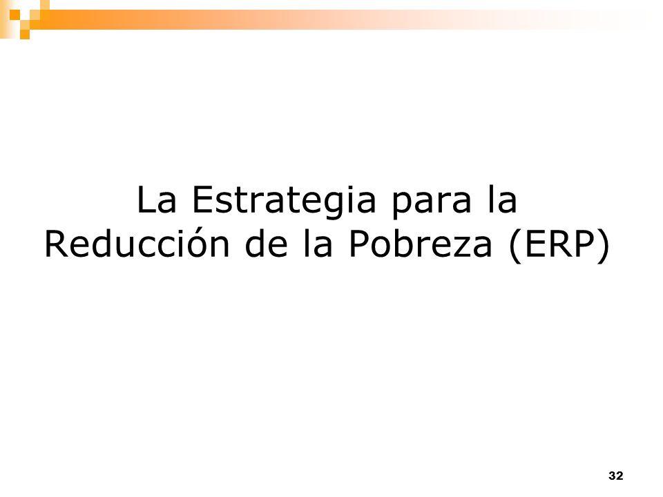 32 La Estrategia para la Reducción de la Pobreza (ERP)