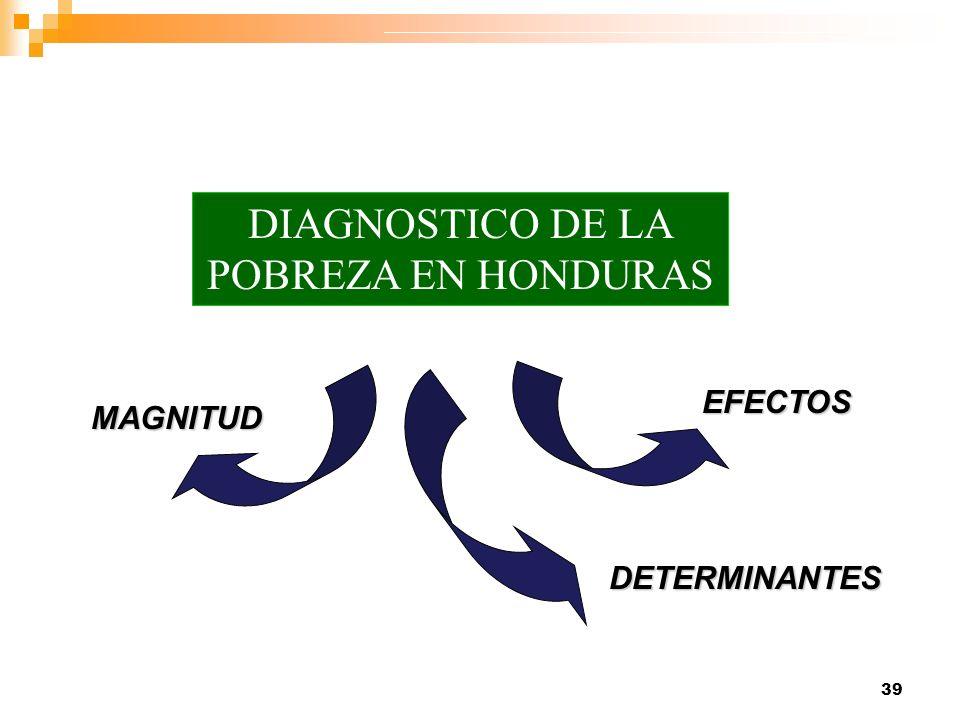 39 MAGNITUD DETERMINANTES EFECTOS DIAGNOSTICO DE LA POBREZA EN HONDURAS