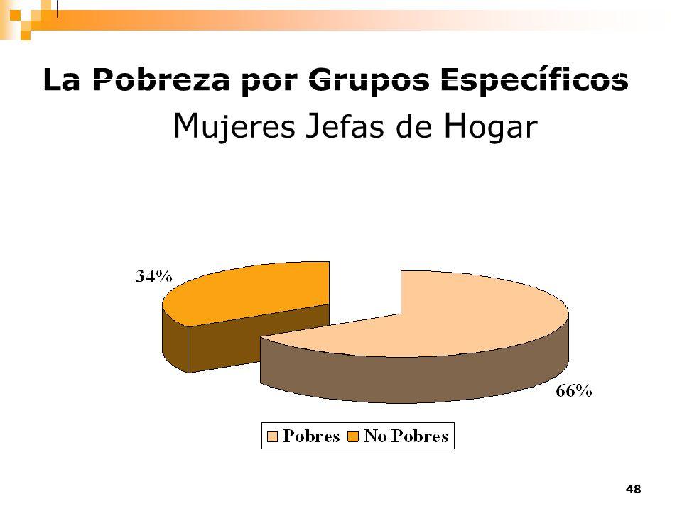 48 La Pobreza por Grupos Específicos M ujeres J efas de H ogar
