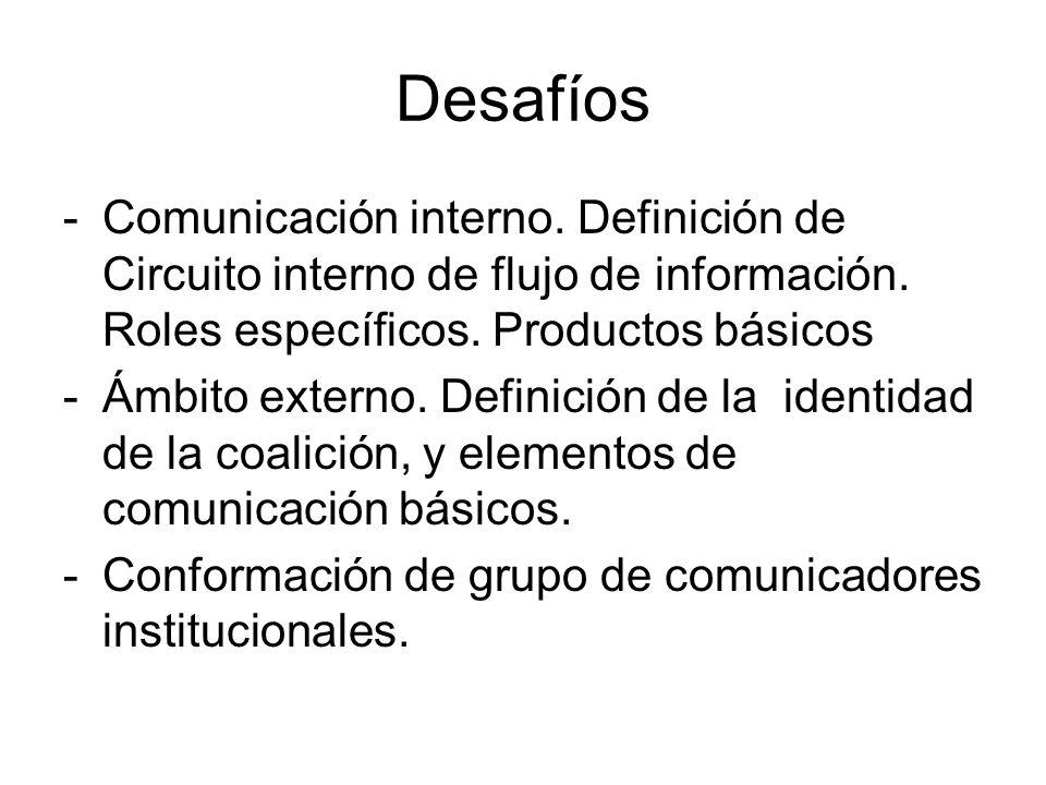 Desafíos -Comunicación interno. Definición de Circuito interno de flujo de información.