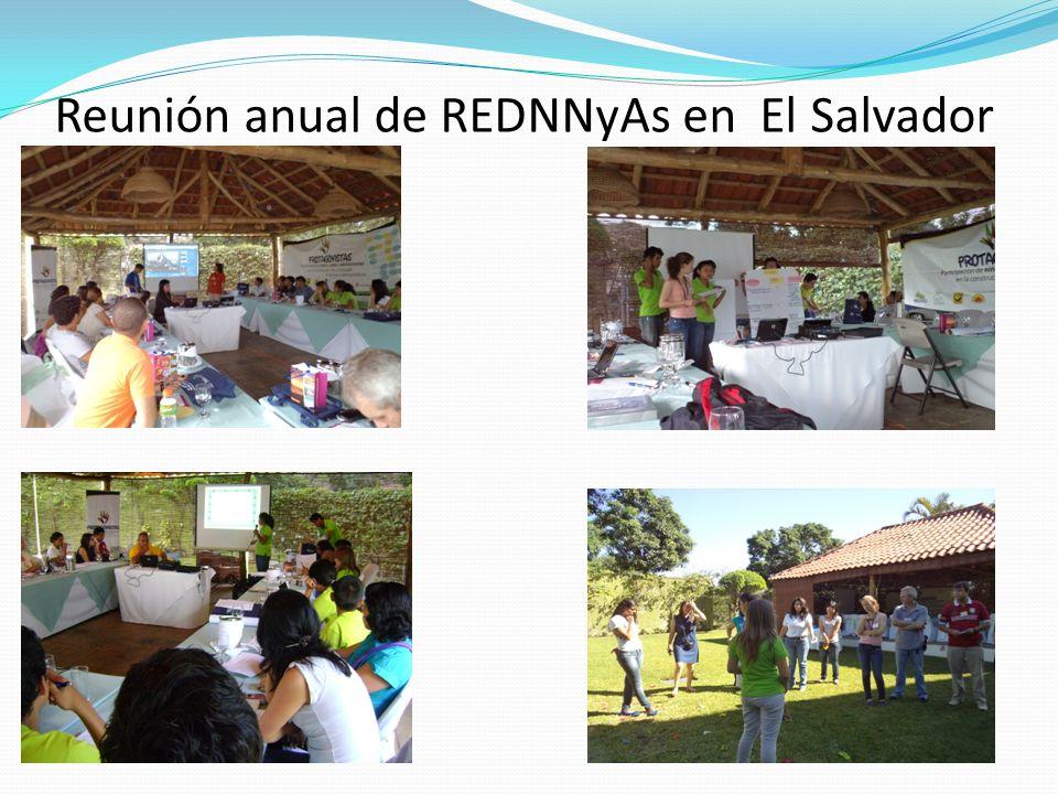 Reunión anual de REDNNyAs en El Salvador