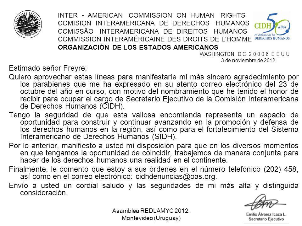 INTER - AMERICAN COMMISSION ON HUMAN RIGHTS COMISION INTERAMERICANA DE DERECHOS HUMANOS COMISSÃO INTERAMERICANA DE DIREITOS HUMANOS COMMISSION INTERAM