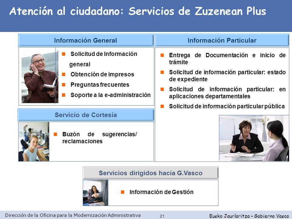 Dirección de la Oficina para la Modernización Administrativa Eusko Jaurlaritza – Gobierno Vasco 21 Entrega de Documentación e inicio de trámite Solici