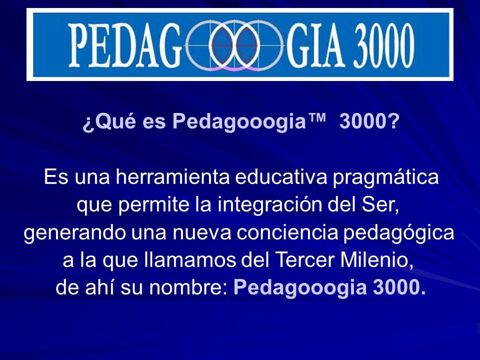 ¿Qué es Pedagooogia 3000? Es una herramienta educativa pragmática que permite la integración del Ser, generando una nueva conciencia pedagógica a la q