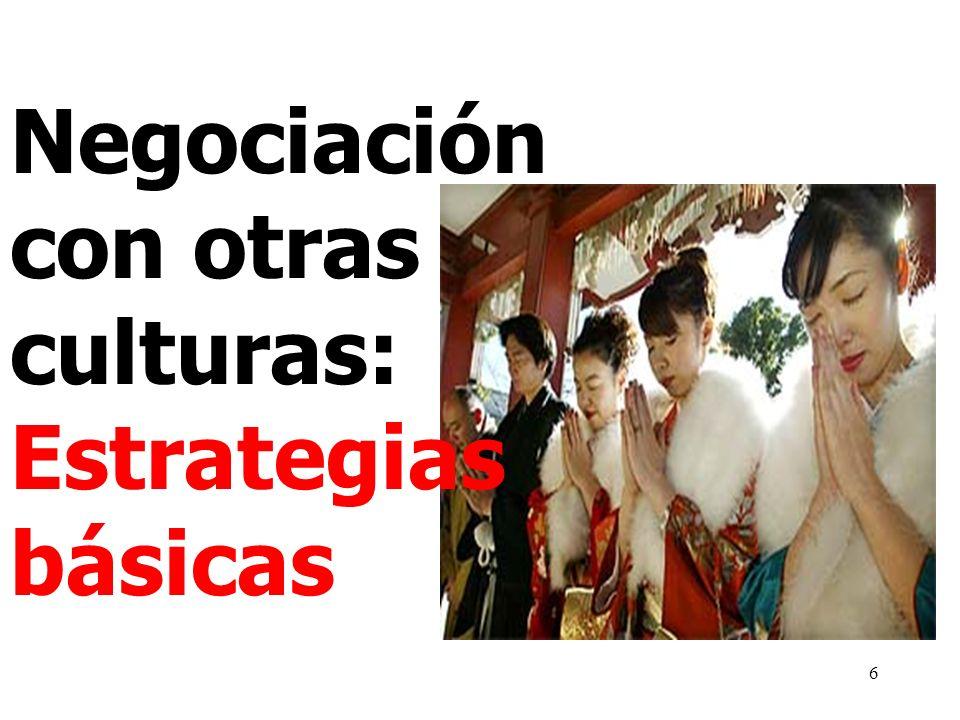 6 Negociación con otras culturas: Estrategias básicas