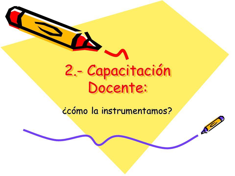 2.- Capacitación Docente: ¿cómo la instrumentamos?