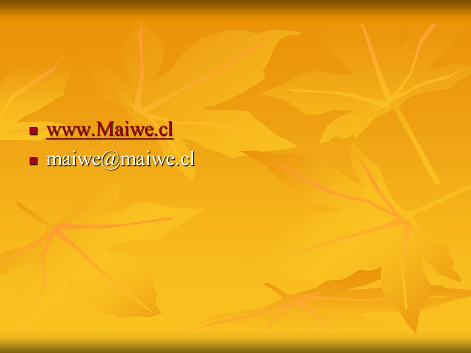 www.Maiwe.cl www.Maiwe.cl www.Maiwe.cl maiwe@maiwe.cl maiwe@maiwe.cl