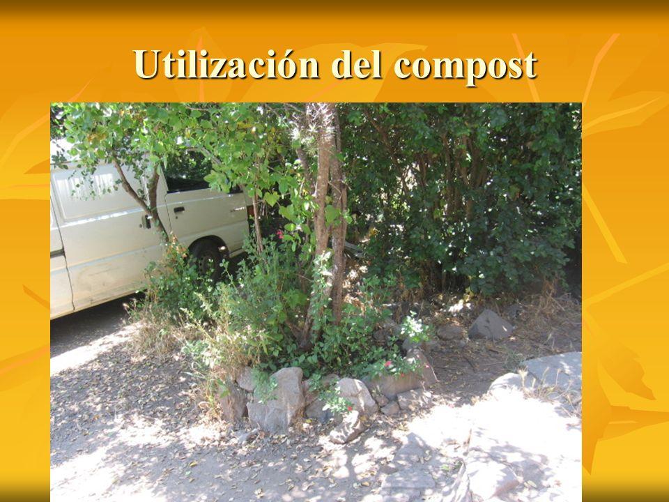 Utilización del compost