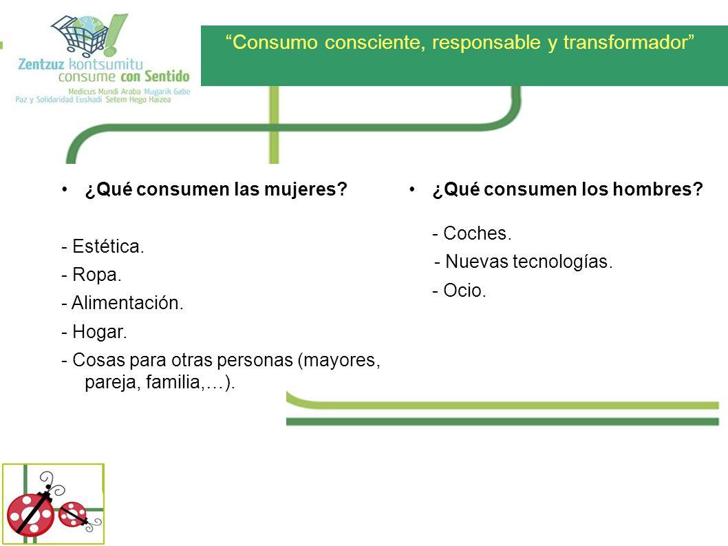 Consumo consciente, responsable y transformador ¿QUIÉN CONSUME?
