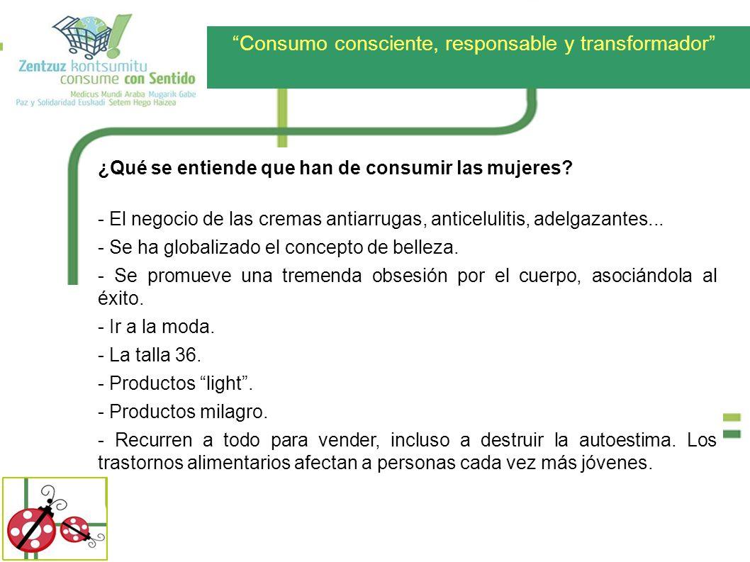 Consumo consciente, responsable y transformador Comparativa de la distribución de las ganancias entre comercio CONVENCIONAL y comercio JUSTO COMERCIO CONVENCIONAL DISTRIBUCIÓN DE BENEFICIOS COMERCIO JUSTO 5% 32% 10% 15% 23% 15% PRODUCTOR O PRODUCTORA TERRATENIENTE, MULTINACIONAL Y GOBIERNO LOCAL COMERCIO Y TRANSPORTE PRODUCCIÓN – PROMOCIÓN IMPUESTOS DISTRIBUCIÓN 17% 10% 17% 18% 23% 15%