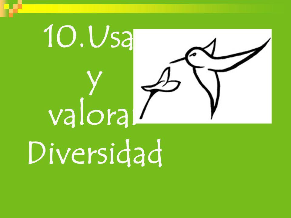 10.Usar y valorar Diversidad
