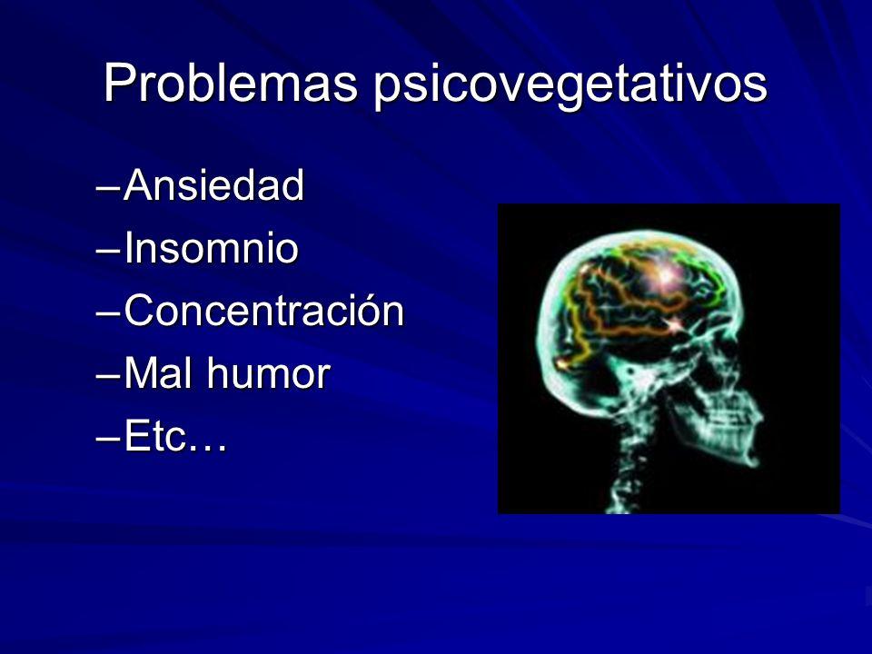 Problemas circulatorios –Hipertensión –Várices –Trombosis –Migrañas y dolores de cabeza –Etc…