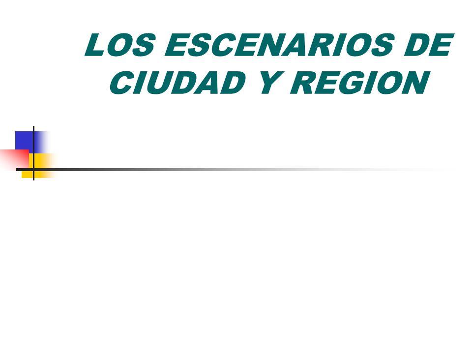 LOS ESCENARIOS DE CIUDAD Y REGION