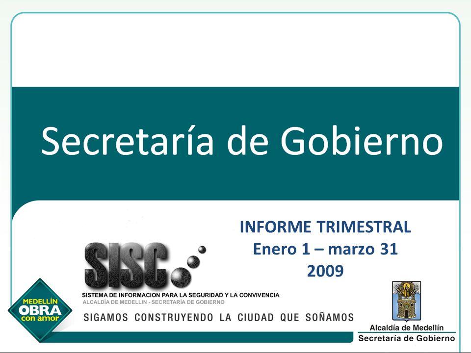 INFORME TRIMESTRAL Enero 1 – marzo 31 2009