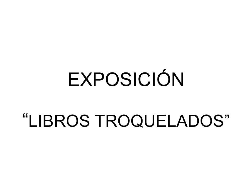 EXPOSICIÓN LIBROS TROQUELADOS