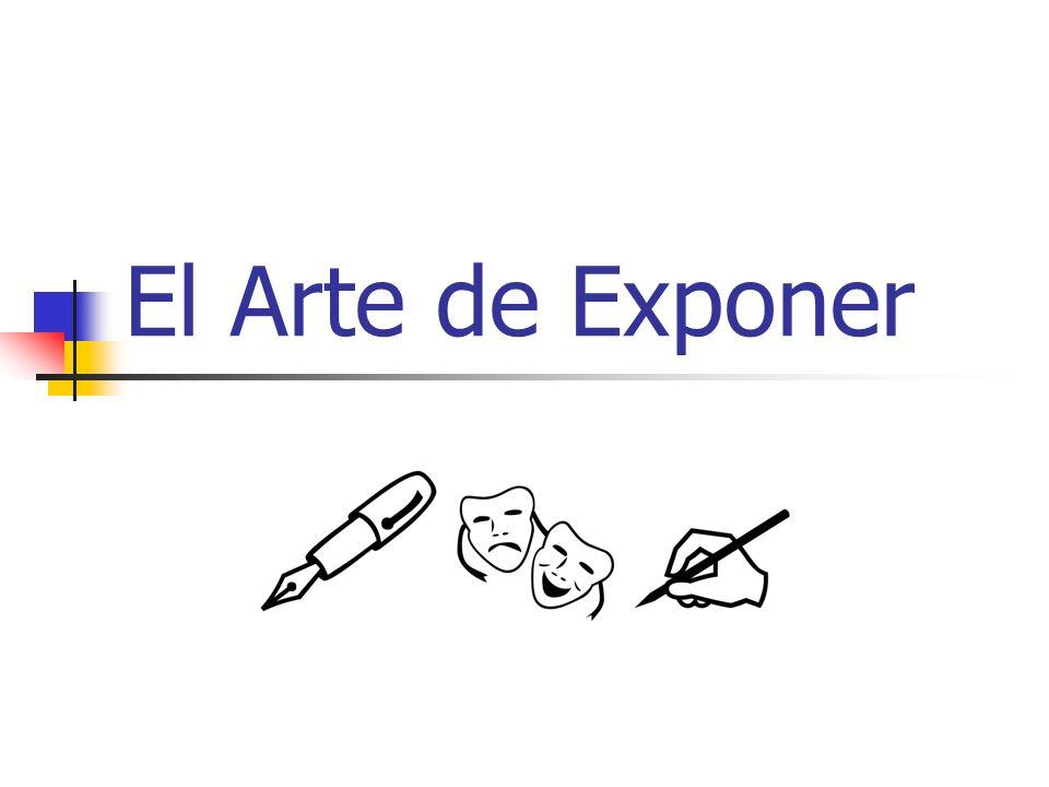 El Arte de Exponer