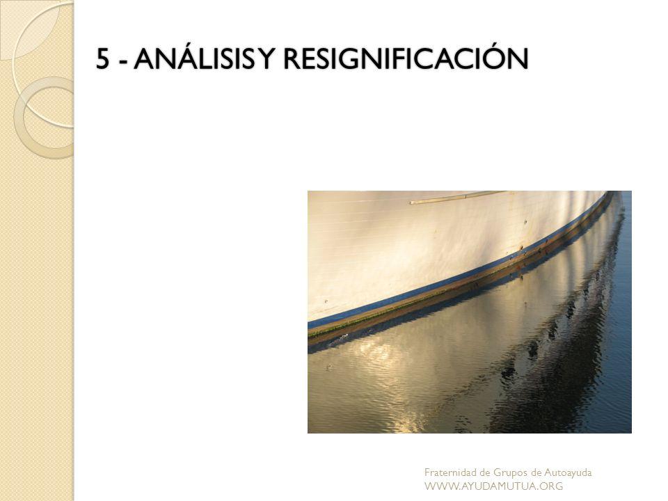 5 - ANÁLISIS Y RESIGNIFICACIÓN Fraternidad de Grupos de Autoayuda WWW.AYUDAMUTUA.ORG