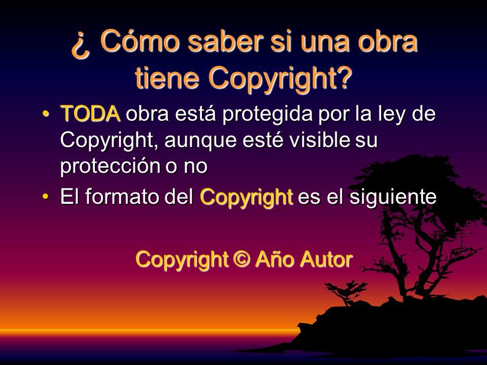 ¿ Cómo saber si una obra tiene Copyright.
