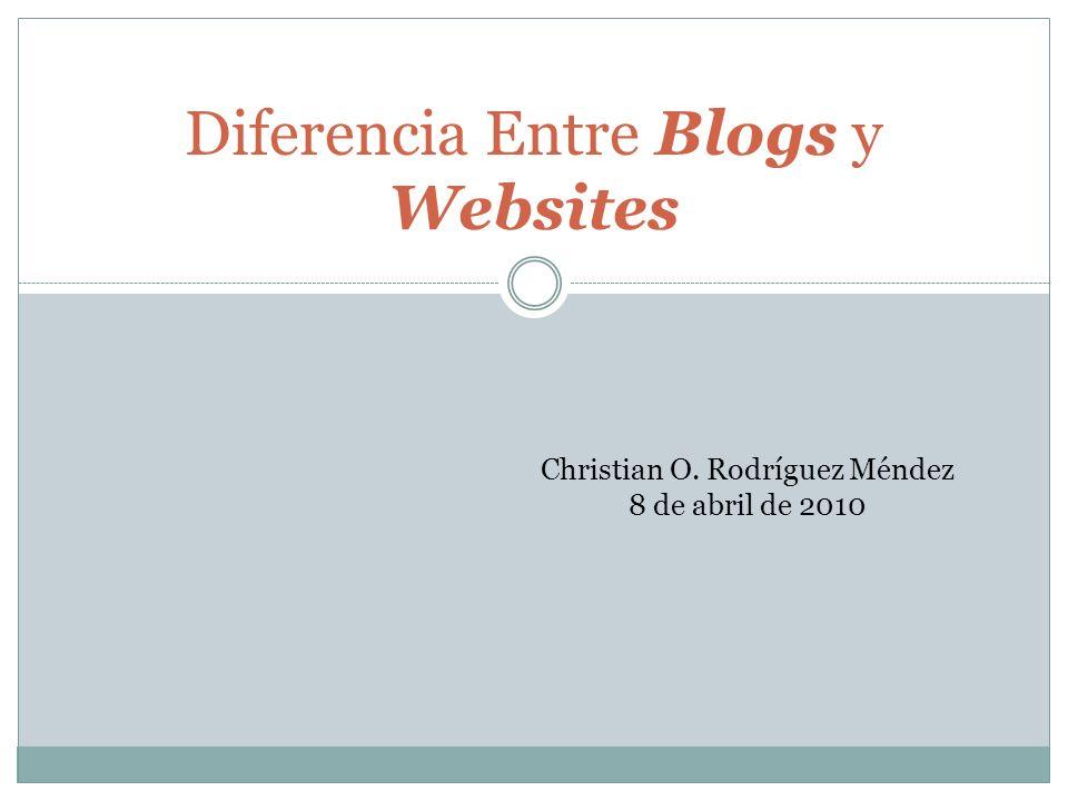 Introducción En este power point les estaré presentando la diferencia entre un blog y un website.