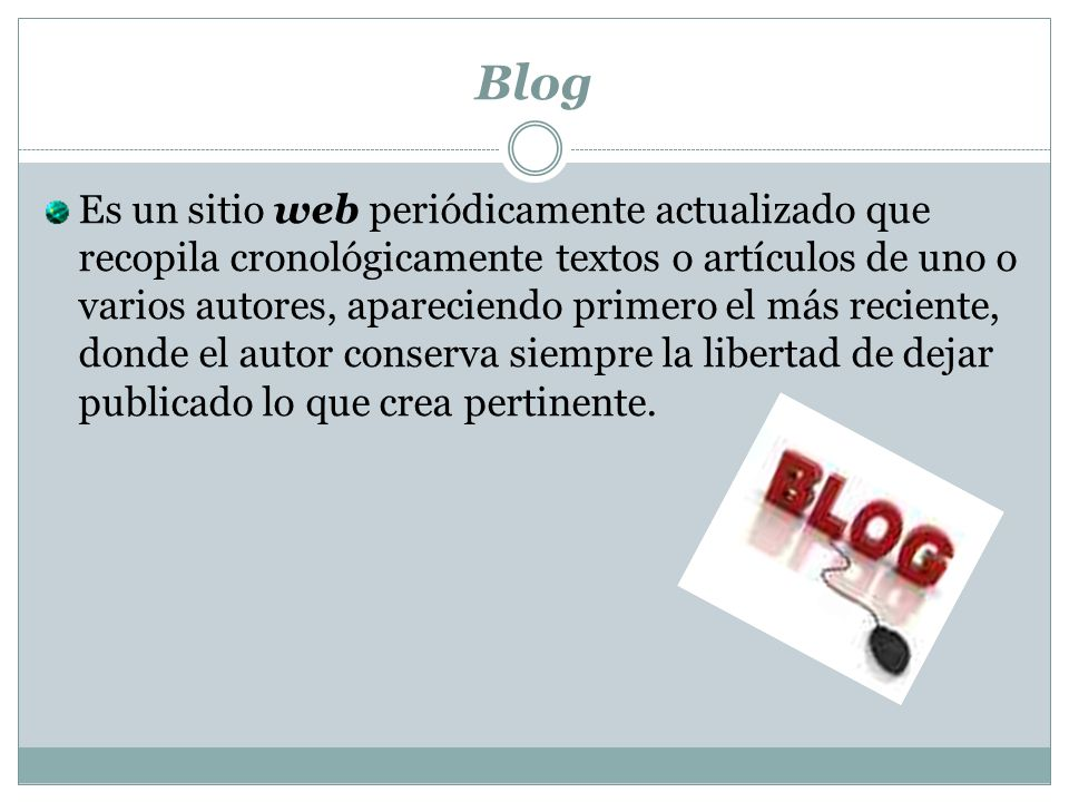 ¿Para que sirve un blog.