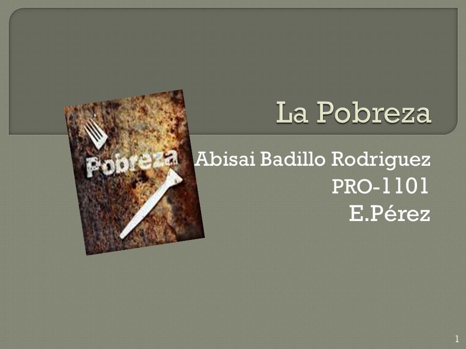 Abisai Badillo Rodriguez PRO- 1101 E.Pérez 1