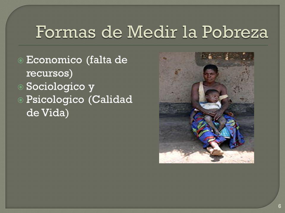 Economico (falta de recursos) Sociologico y Psicologico (Calidad de Vida) 6