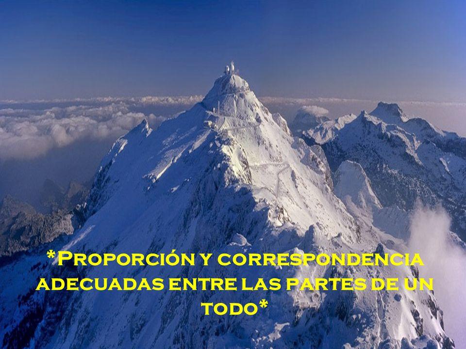 *Proporción y correspondencia adecuadas entre las partes de un todo*