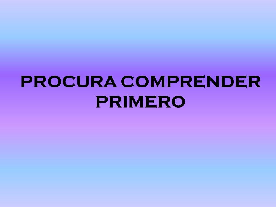 PROCURA COMPRENDER PRIMERO