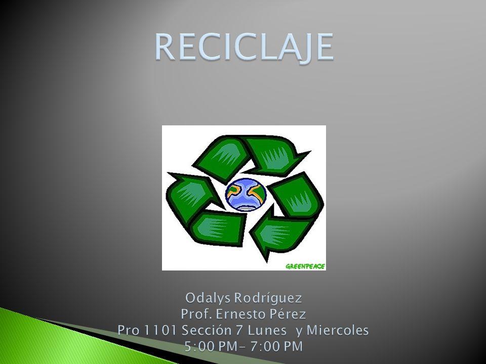 A continuacion estare hablando sobre el Reciclaje y los distintos materiales que son reciclabes.